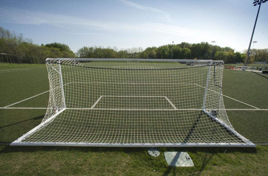 back of soccer goal net