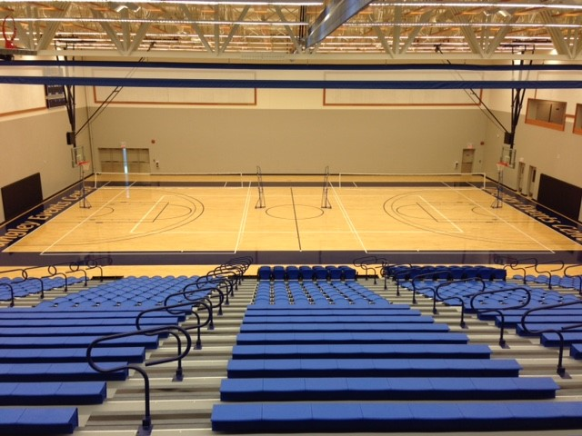 gymnasium bleacher seating